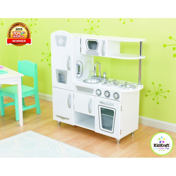 jouets des bois cuisine en bois vintage blanche 53402 kidkraft. Black Bedroom Furniture Sets. Home Design Ideas