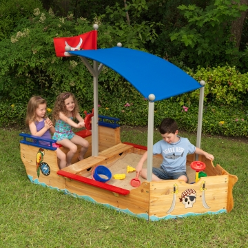 jouets des bois bac sable en bois bateau sand boat kidkraft. Black Bedroom Furniture Sets. Home Design Ideas