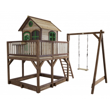 jouets des bois playhouse liam avec balan oire cabane en bois axi. Black Bedroom Furniture Sets. Home Design Ideas