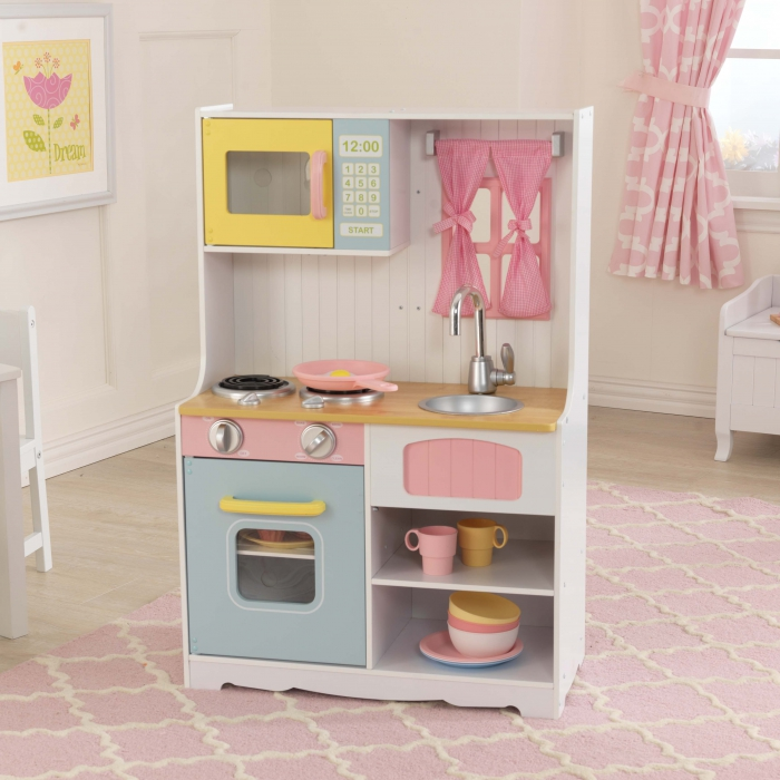 jouets des bois cuisine en bois pastel country 53354 kidkraft jouet en bois. Black Bedroom Furniture Sets. Home Design Ideas