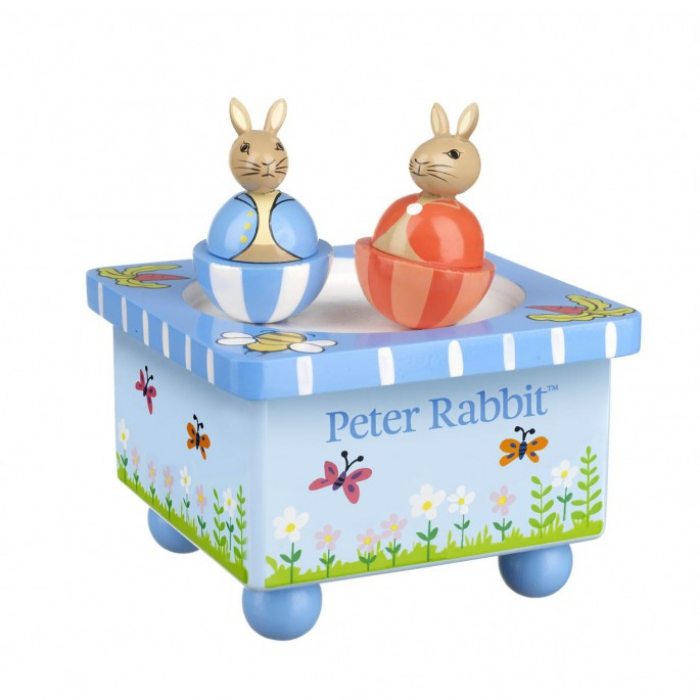 jouets des bois bo te musique en bois peter le lapin orange tree toys jouets des bois. Black Bedroom Furniture Sets. Home Design Ideas