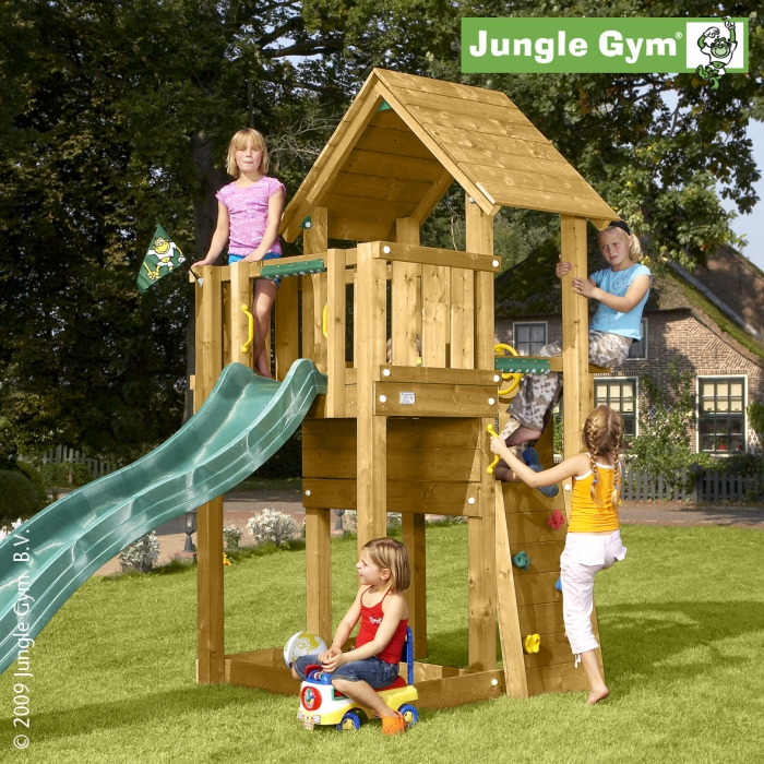 tour de jeux en bois jungle cubby jungle gym jouets. Black Bedroom Furniture Sets. Home Design Ideas