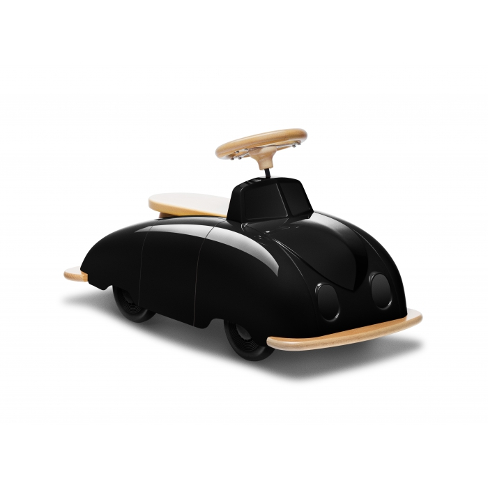 voiture roadster saab en bois playsam noir et naturel. Black Bedroom Furniture Sets. Home Design Ideas