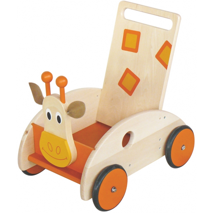 jouets des bois chariot de marche en bois scratch girafe. Black Bedroom Furniture Sets. Home Design Ideas