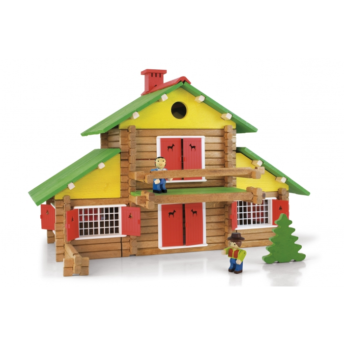 jouets des bois jeu de construction jeujura chalet jouets des bois. Black Bedroom Furniture Sets. Home Design Ideas