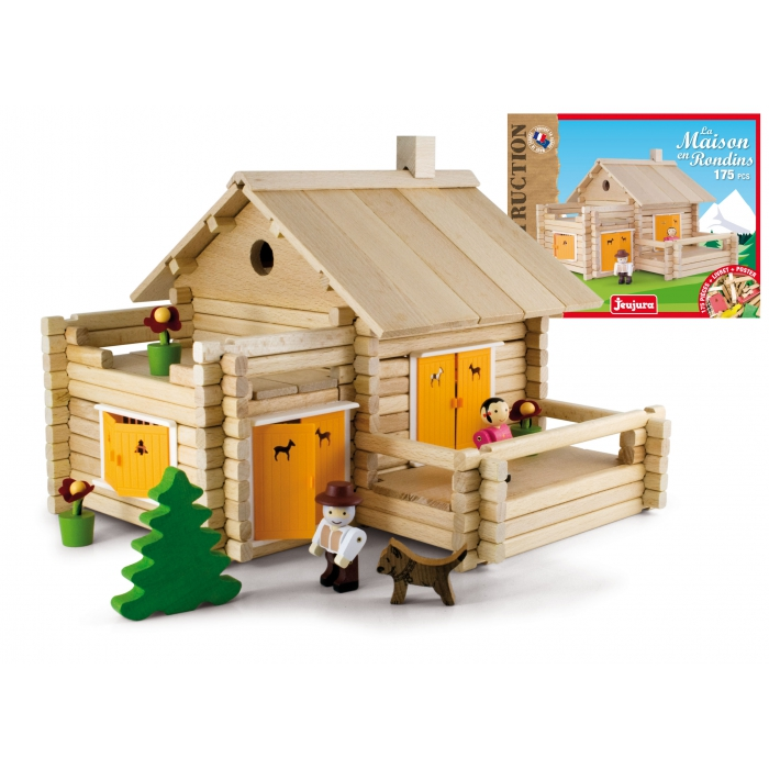 jouets des bois jeu de construction en bois jeujura maison. Black Bedroom Furniture Sets. Home Design Ideas