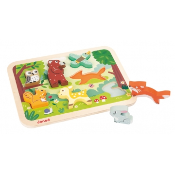 chunky-puzzle-foret puzzle-en-bois-janod-chunky-puzzle-foret